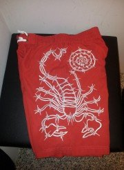 scorpion bay costume rosso