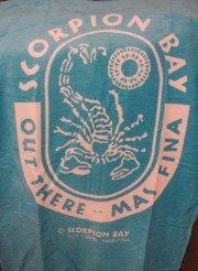 scorpion telo azzurro