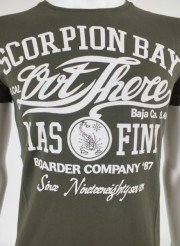 scorpion bay  t-shirtverde uomo
