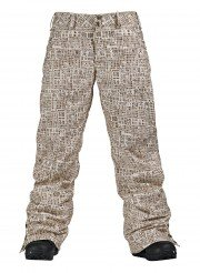 burton mighty pant-women-s-chestnut-paper-print